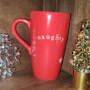 Pottery by Kathy Tall Christmas mug
